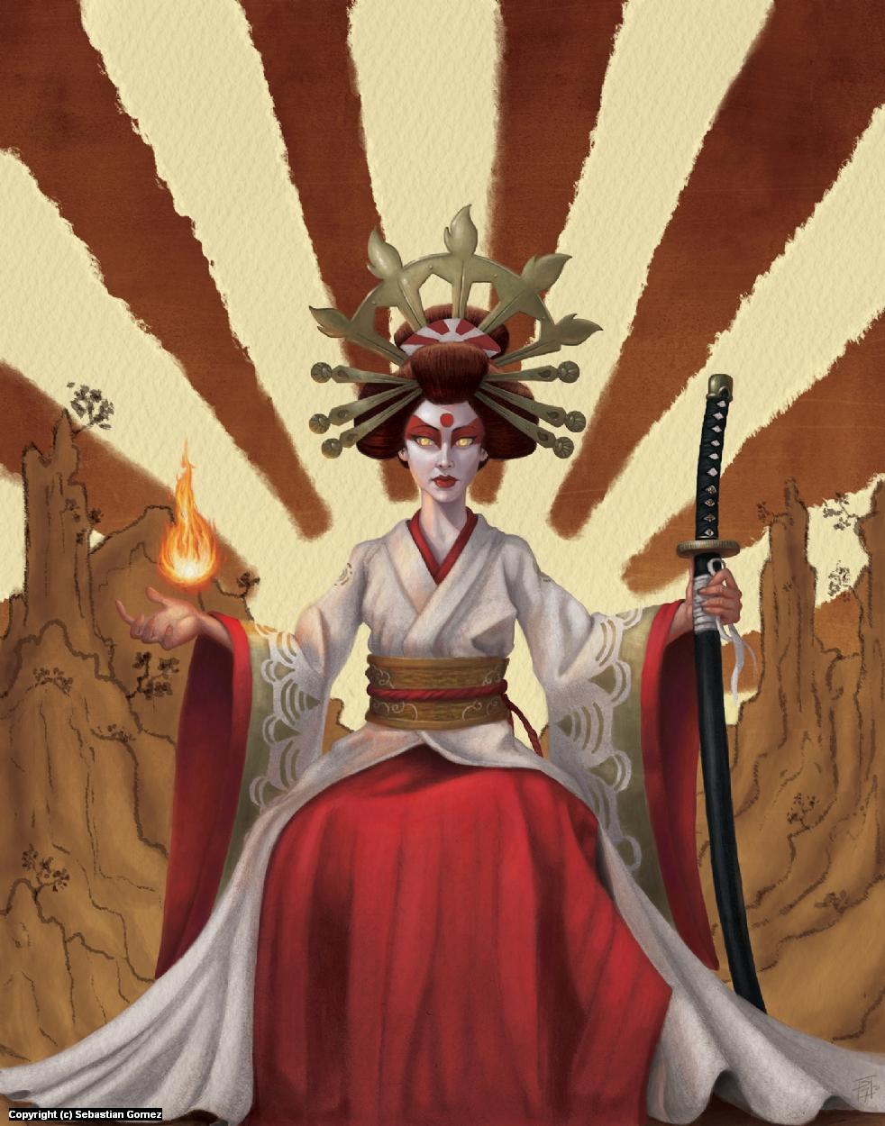 Amaterasu Artwork by Sebastian  Gomez