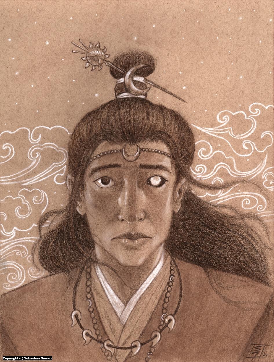 Tsukuyomi portrait Artwork by Sebastian  Gomez