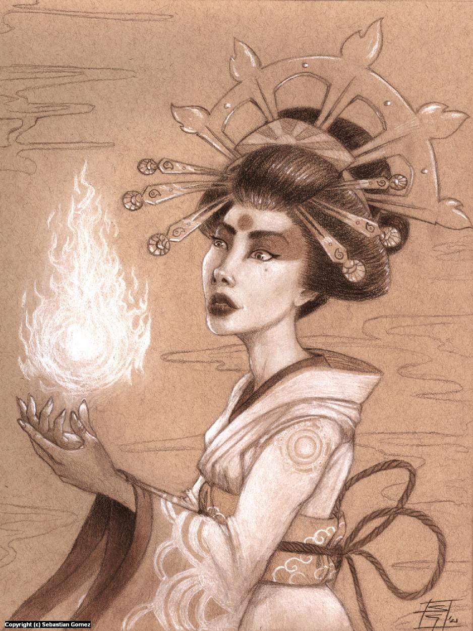 Amaterasu Portrait Artwork by Sebastian  Gomez