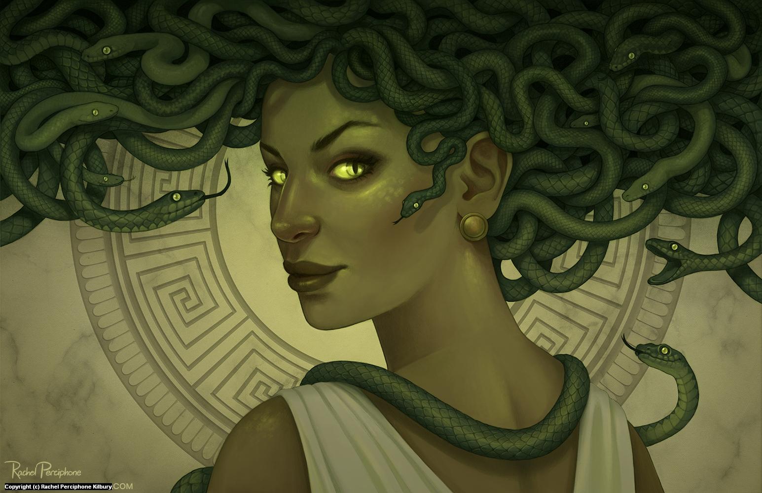 Medusa Artwork by Rachel Perciphone