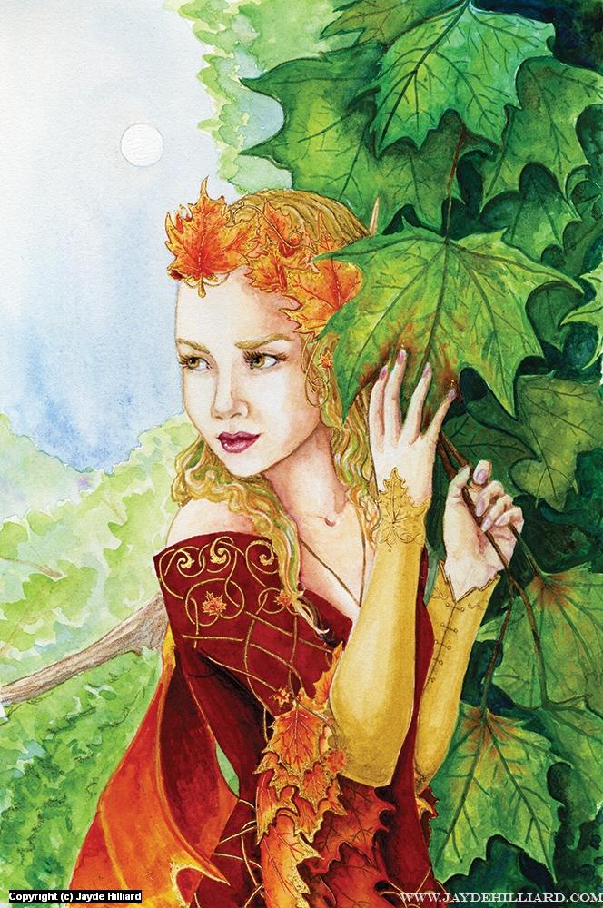 Seelie Maple Fairy Artwork by Jayde Hilliard
