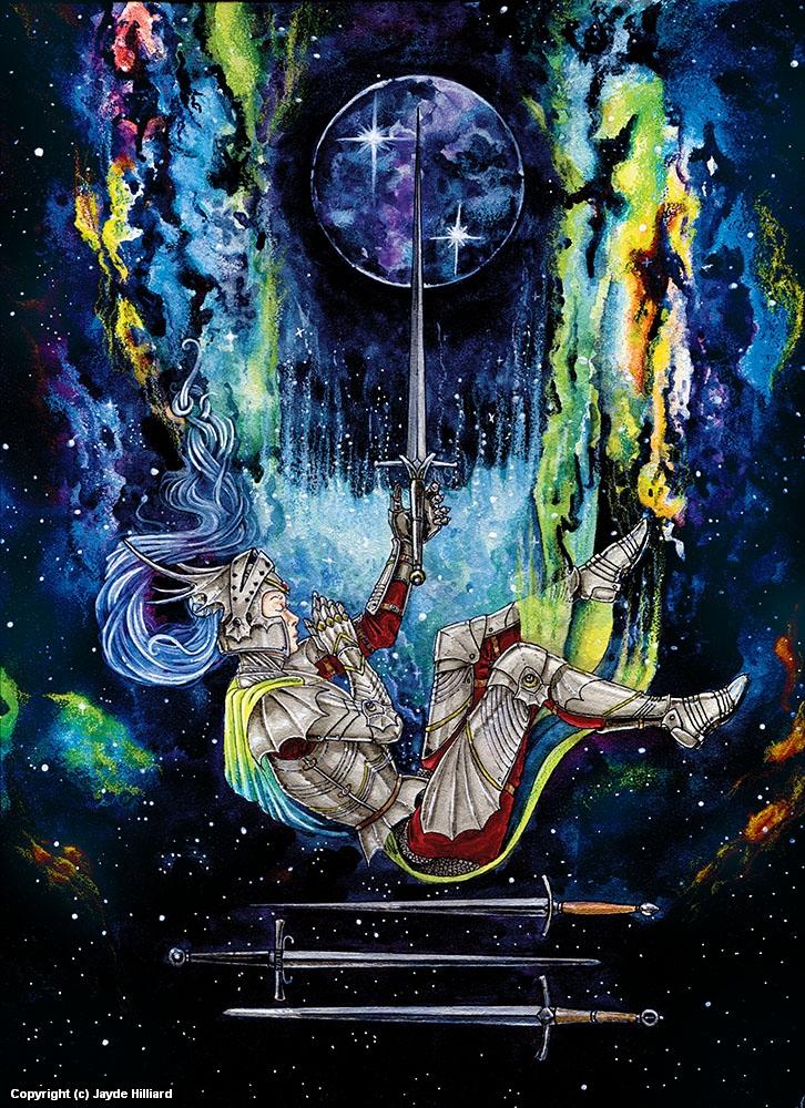 Four of Swords Artwork by Jayde Hilliard