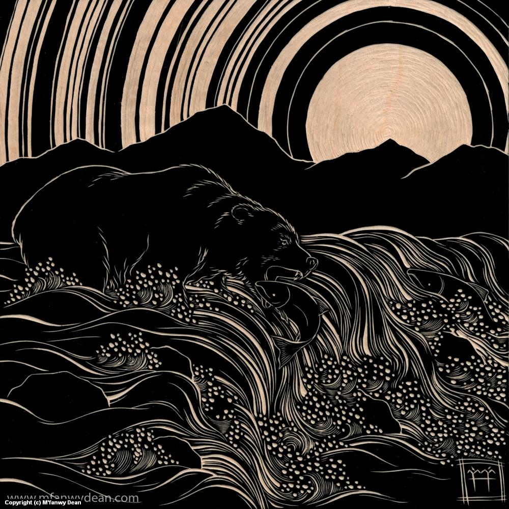Gone Fishing Artwork by M'fanwy Dean