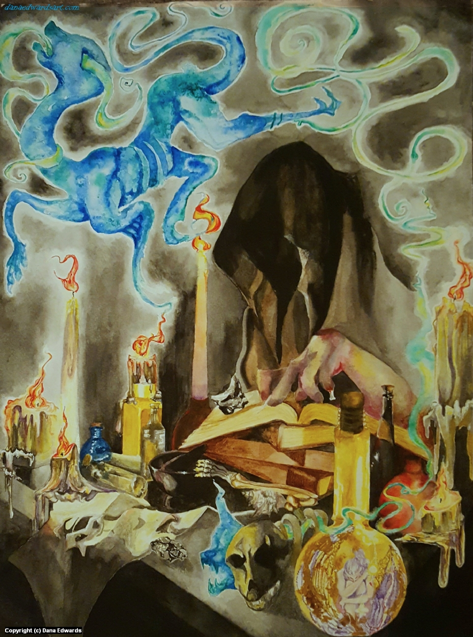Evil Magician Artwork by Dana Edwards