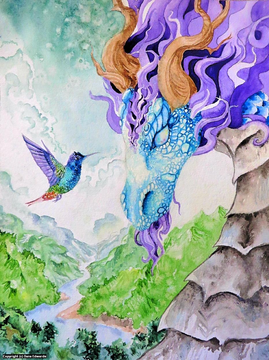 Diana's Dragon Artwork by Dana Edwards