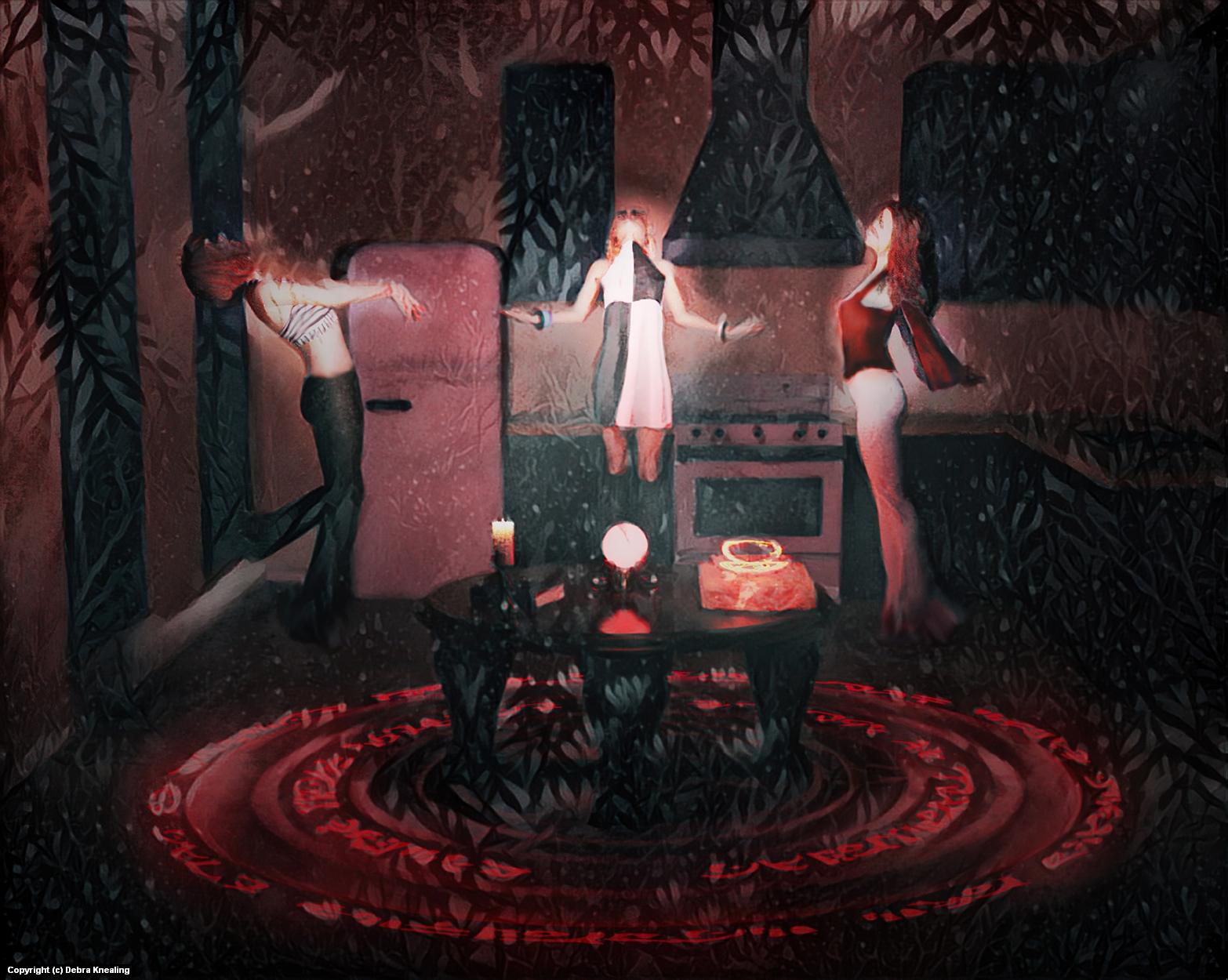 Kitchen Witches Artwork by Debra Knealing