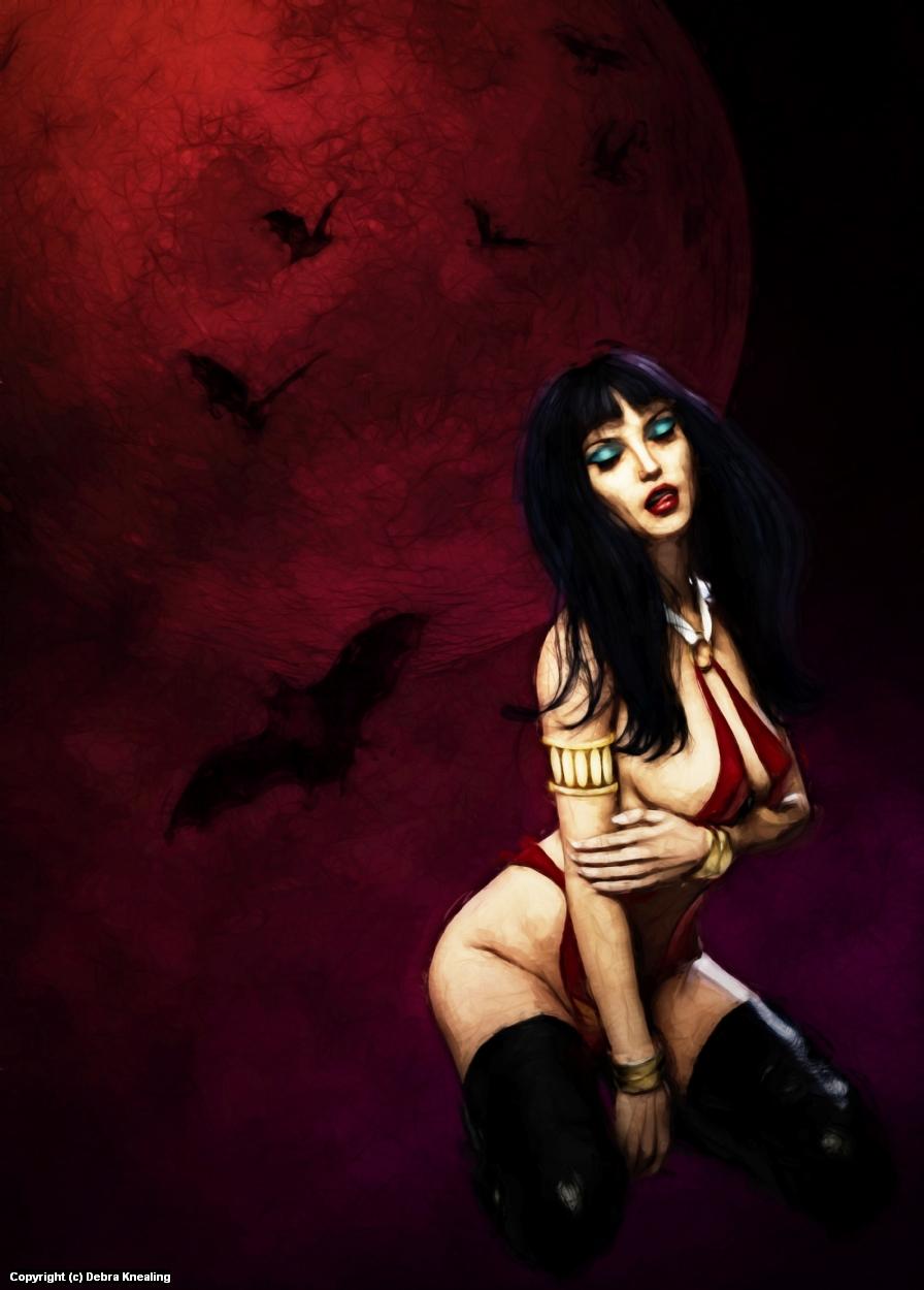 Vampirella Artwork by Debra Knealing