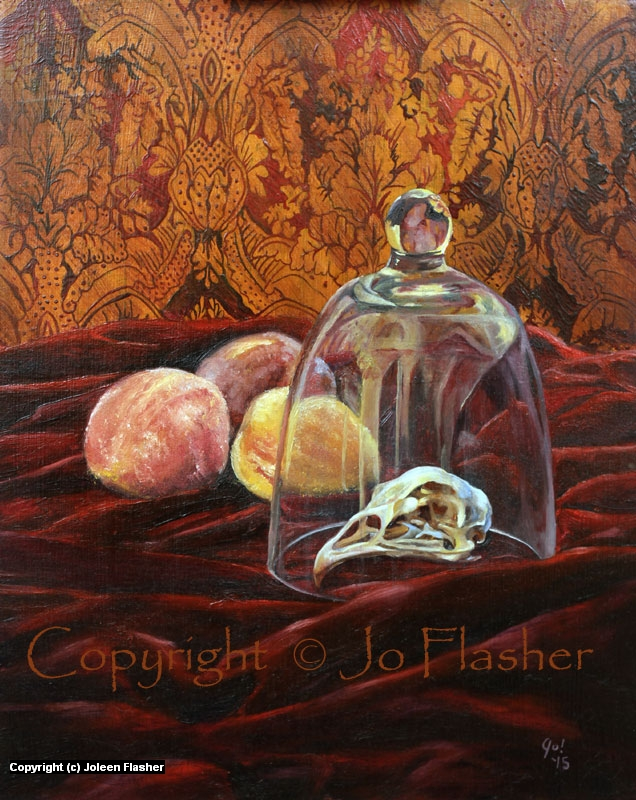 Glass, Bones and Peaches Artwork by Joleen Flasher