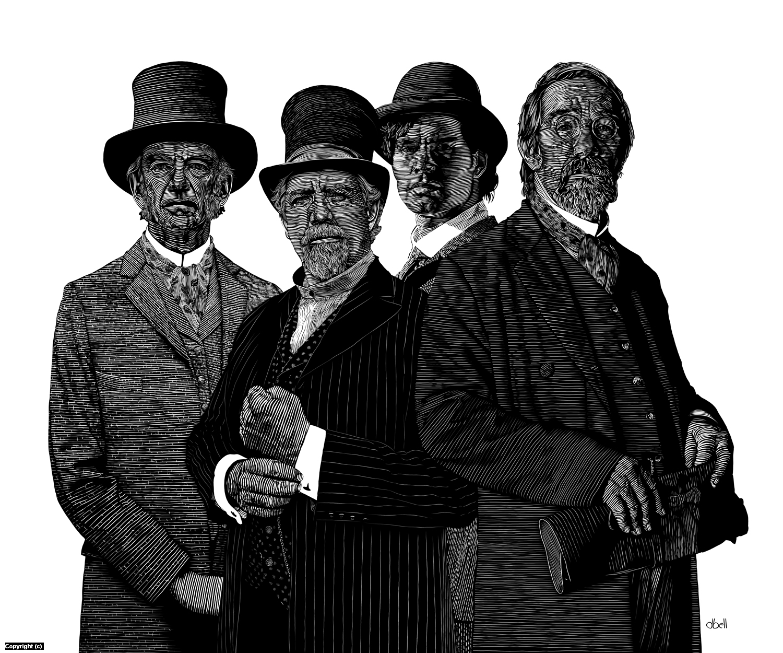 The Four Men Artwork by Douglas Bell