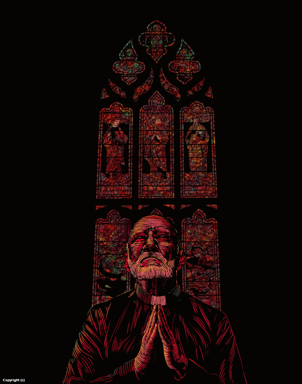 The Phantom Priest Artwork by Douglas Bell
