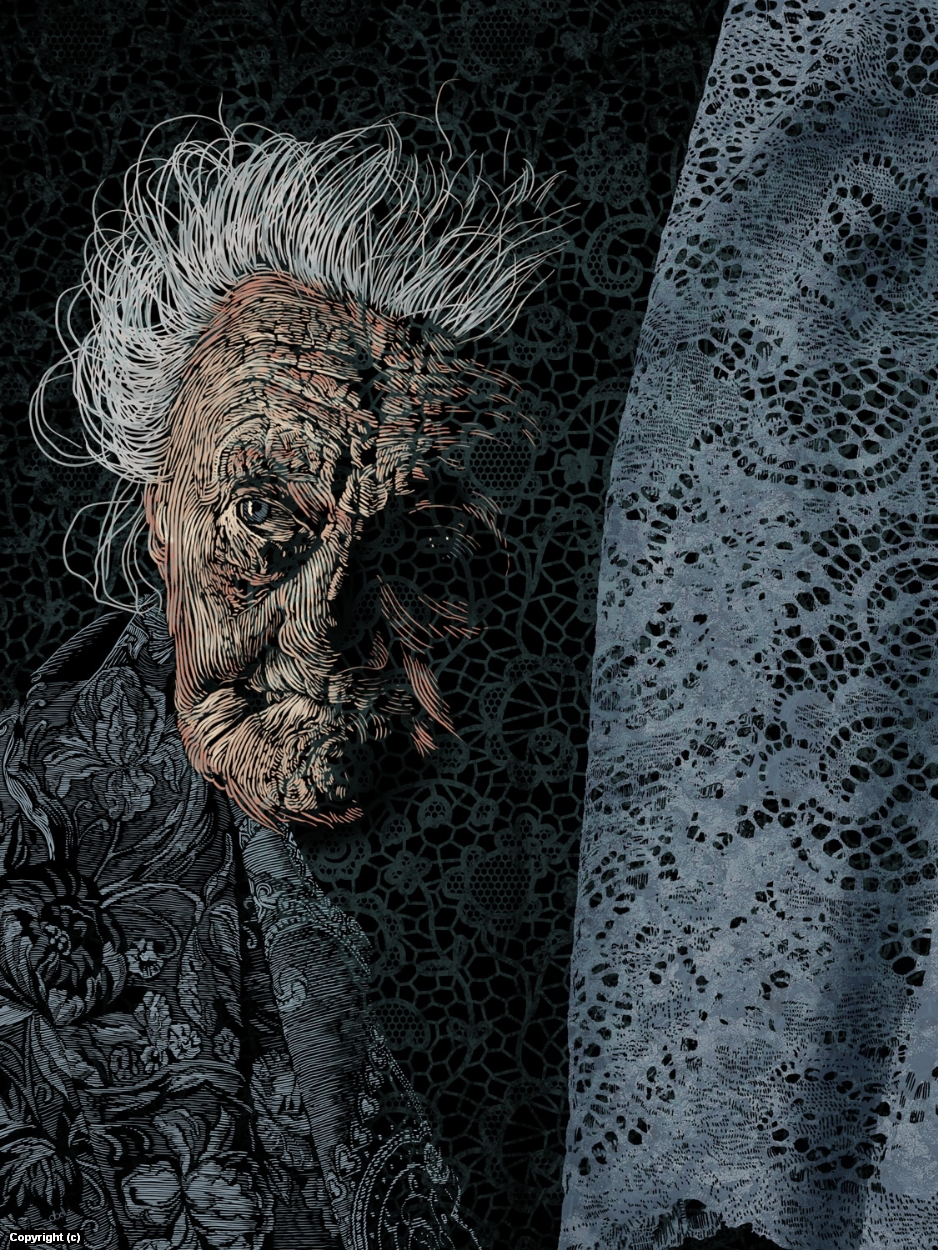 There's A Grandma In My Room Artwork by Douglas Bell