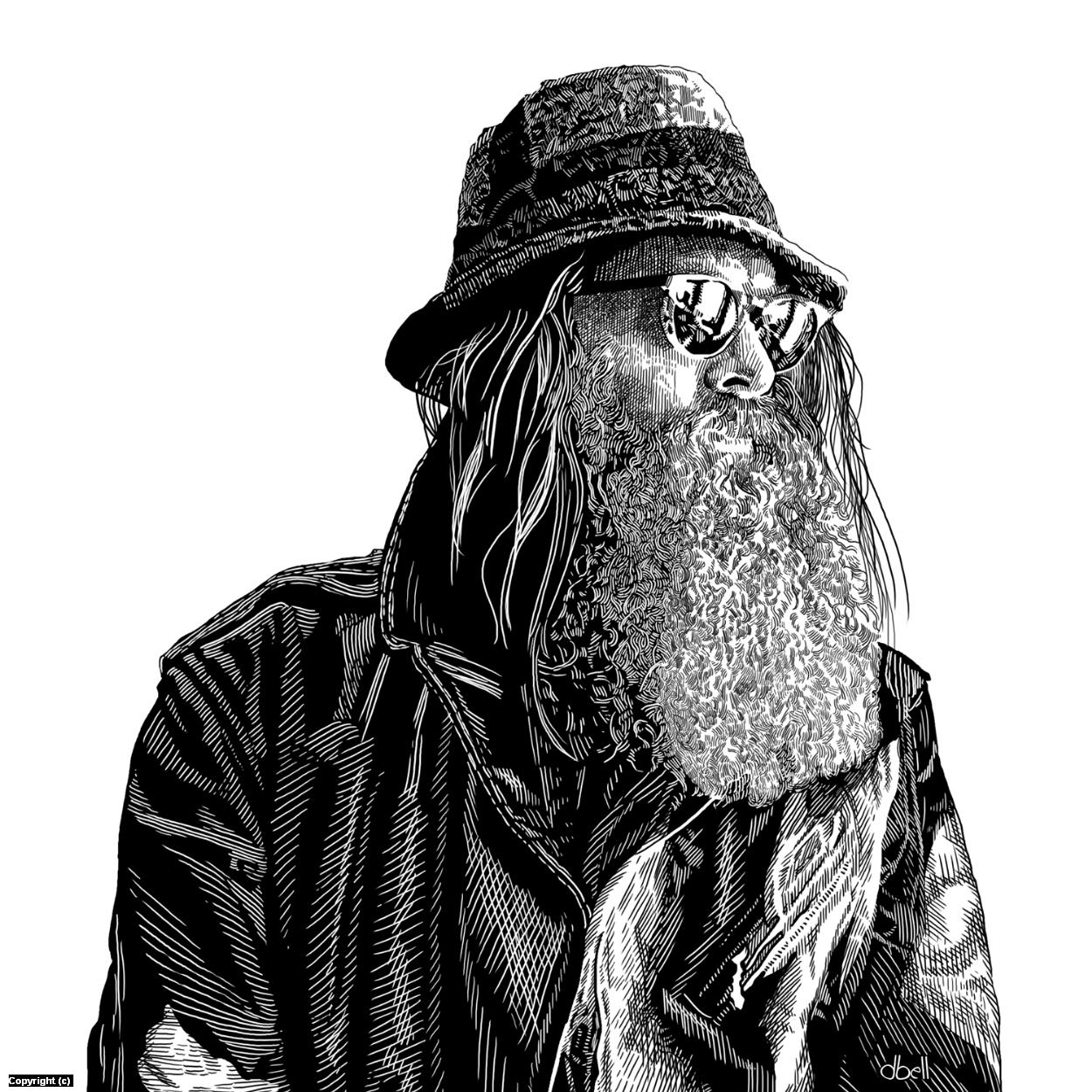 BR Wool Cap Artwork by Douglas Bell