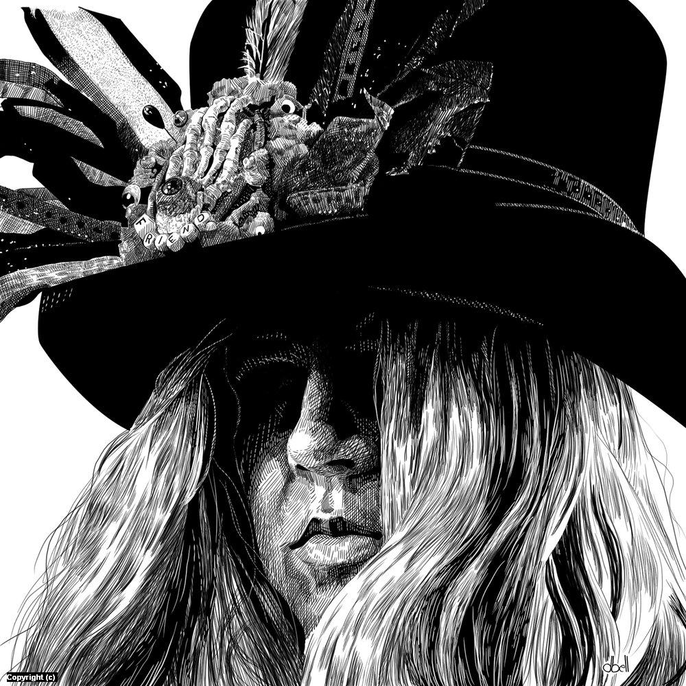 Friend Hat Artwork by Douglas Bell