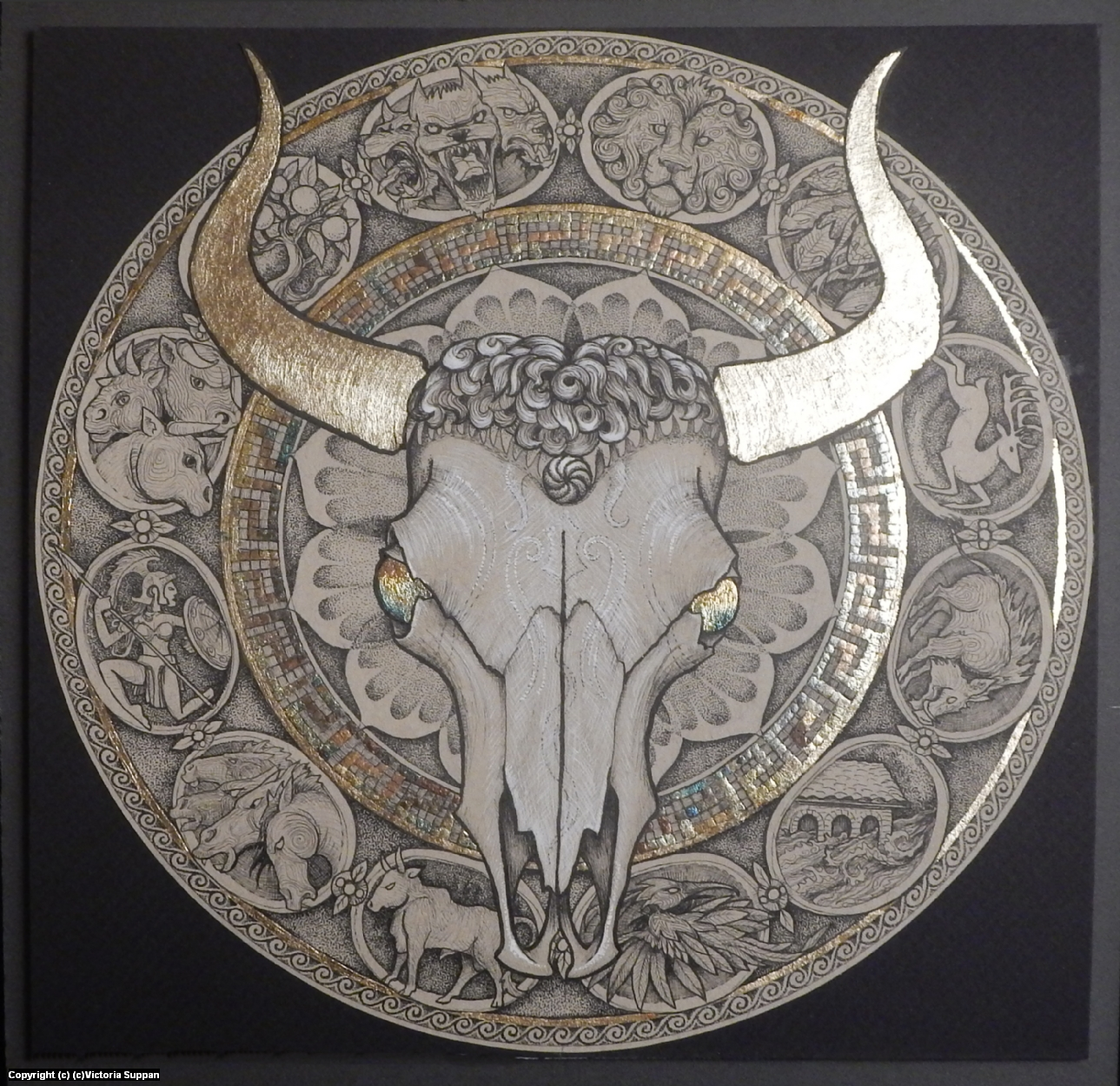 Capture the Cretan Bull - 7th labour of Hercules Artwork by Victoria Suppan