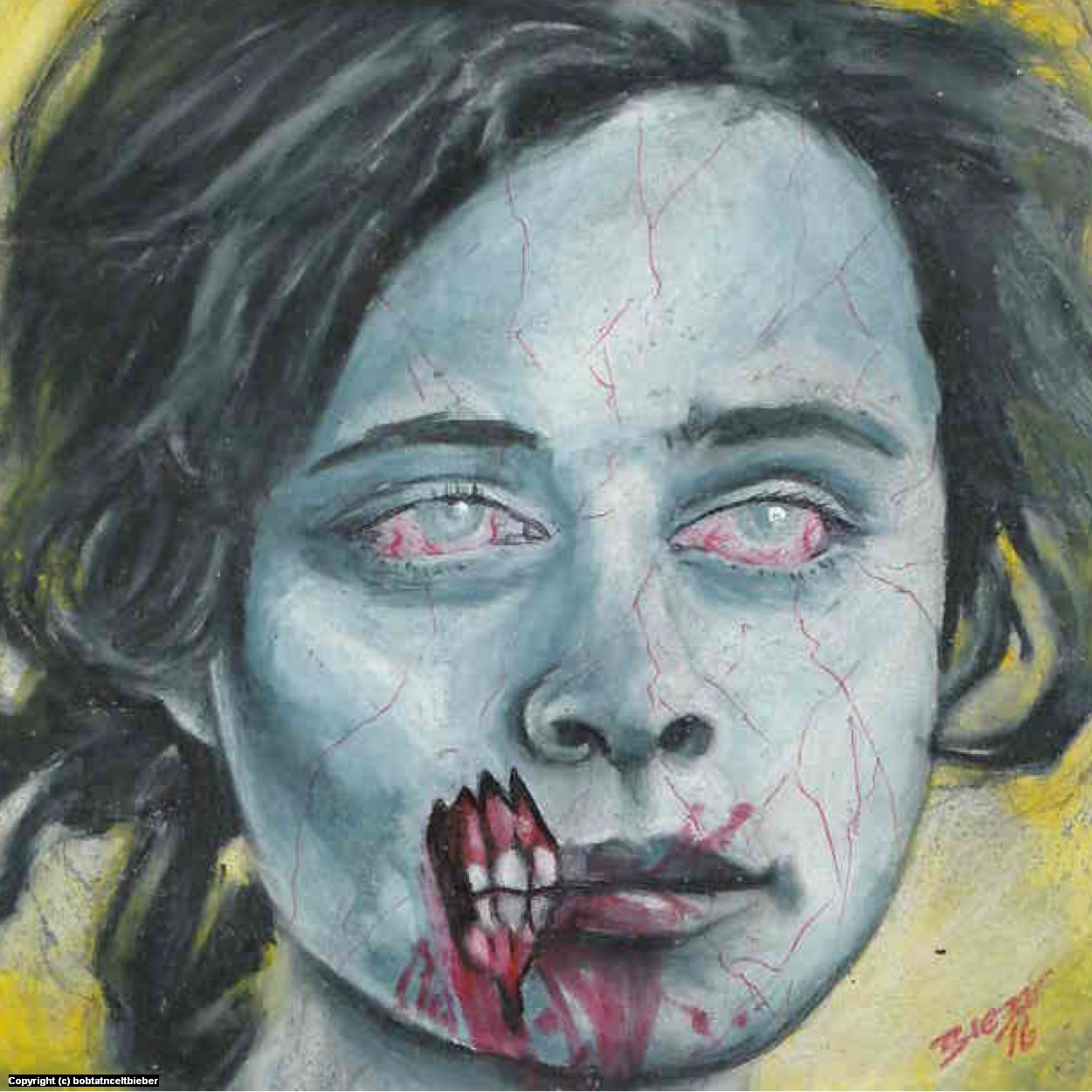 Ice Zombie Girl Artwork by Bob Bieber