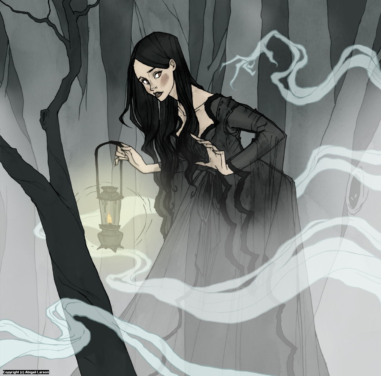 What Lies in the Mist Artwork by Abigail Larson