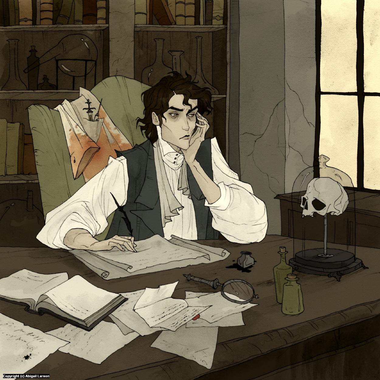 Victor Frankenstein Artwork by Abigail Larson