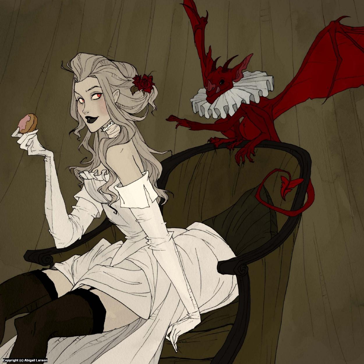 Little Demon Artwork by Abigail Larson
