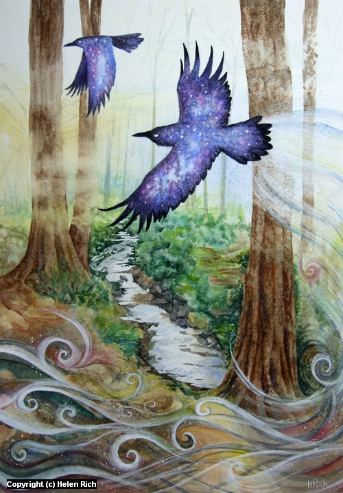 The Raven Portal Artwork by Helen Frost Rich