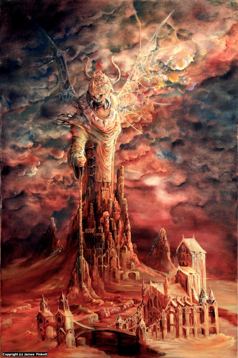 Inhabitation of the Fallen Gods 1 Artwork by James Pinkett