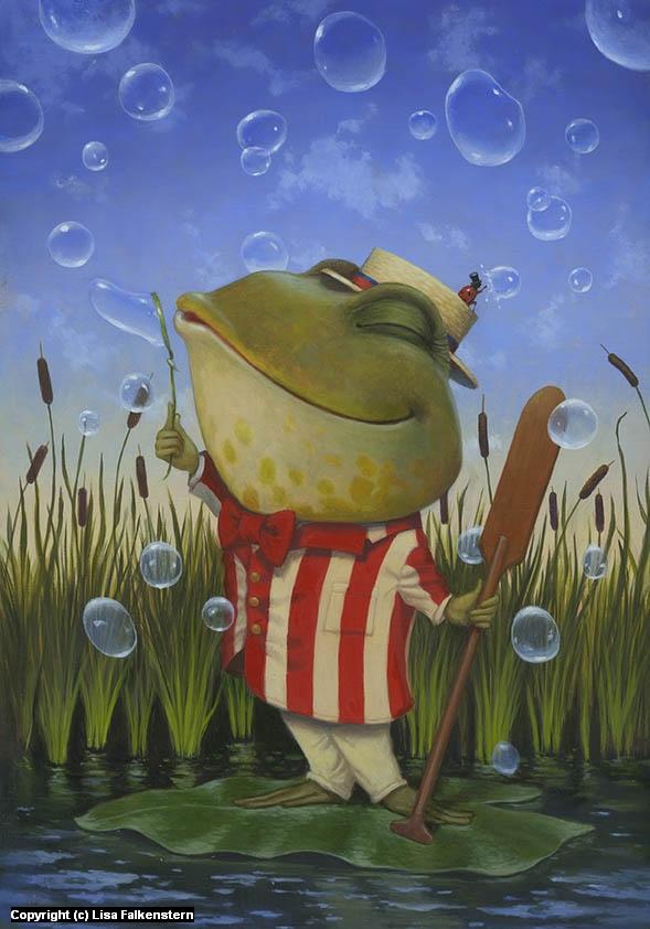 Bubble Duet Artwork by Lisa Falkenstern