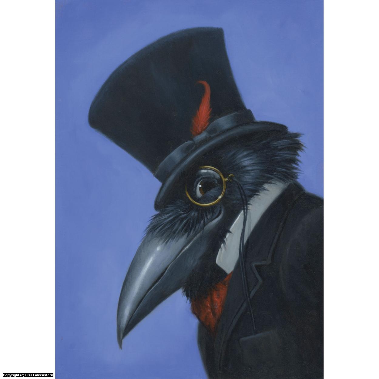 Steampunk Crow Artwork by Lisa Falkenstern