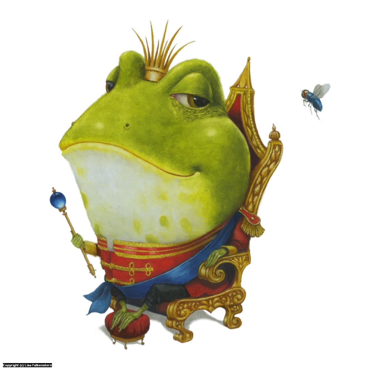Frog Prince Artwork by Lisa Falkenstern