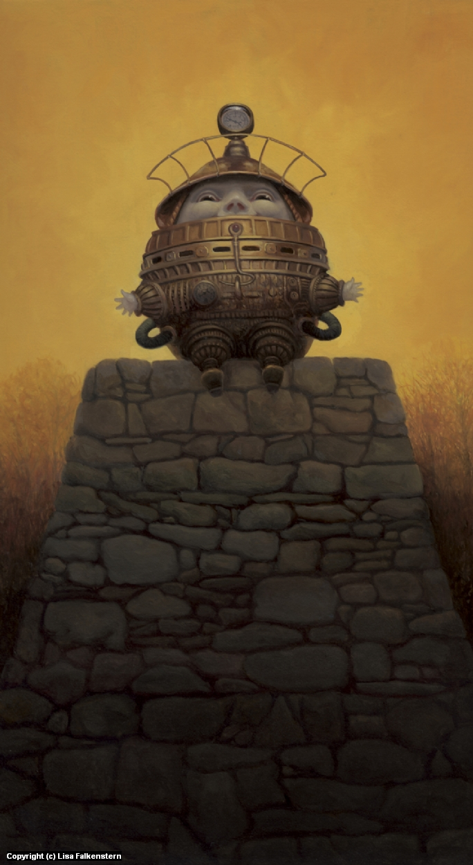 Steampunk Humpty Dumpty Artwork by Lisa Falkenstern