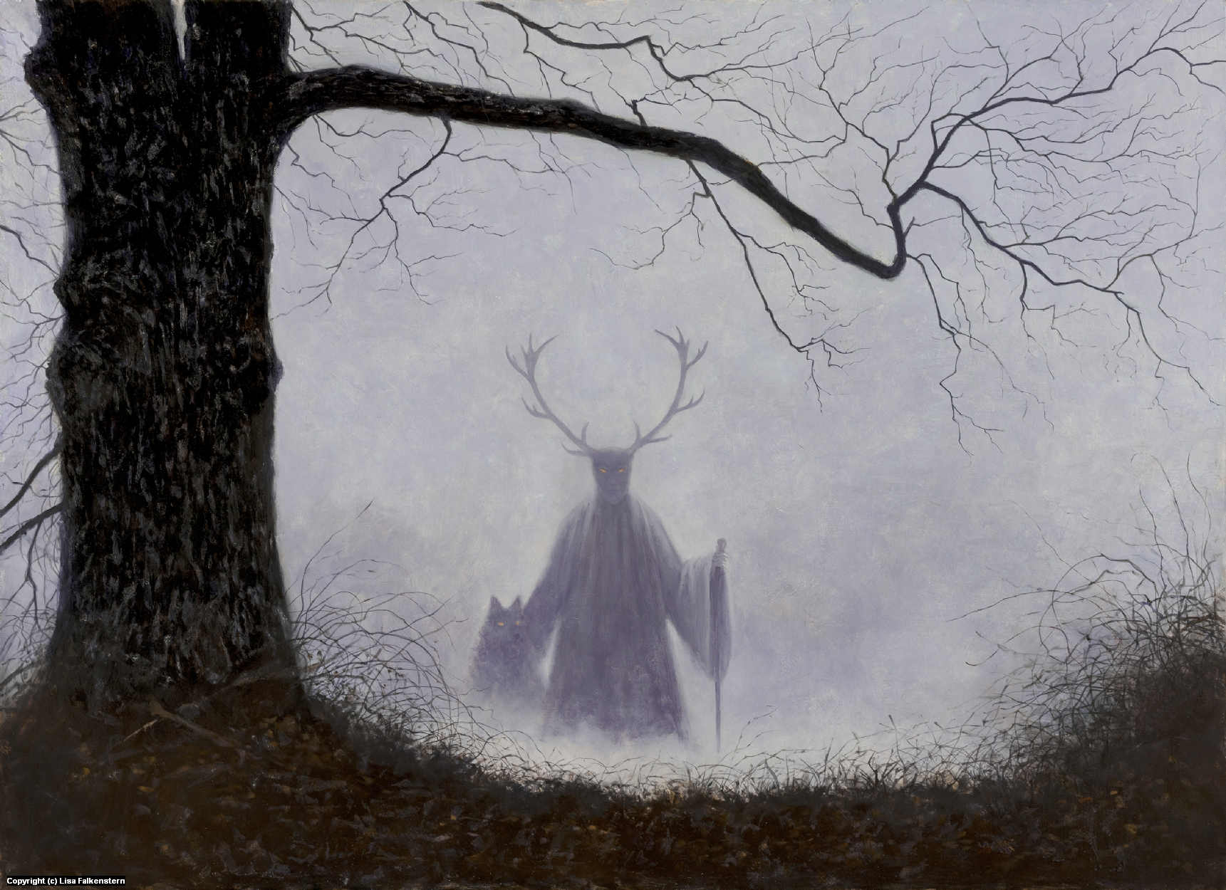 Cernunnos Artwork by Lisa Falkenstern