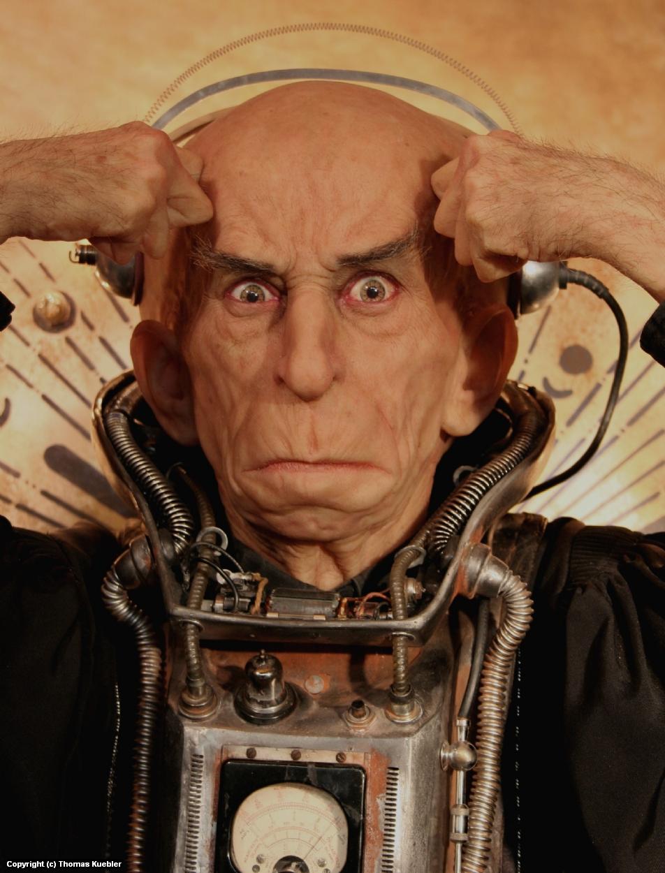 Doctor Calvarium and His Atomic Brain Artwork by Thomas Kuebler