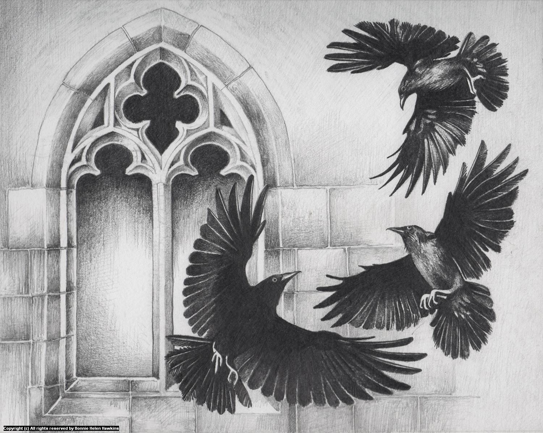 52 Crows Week 8 Artwork by Bonnie Helen Hawkins