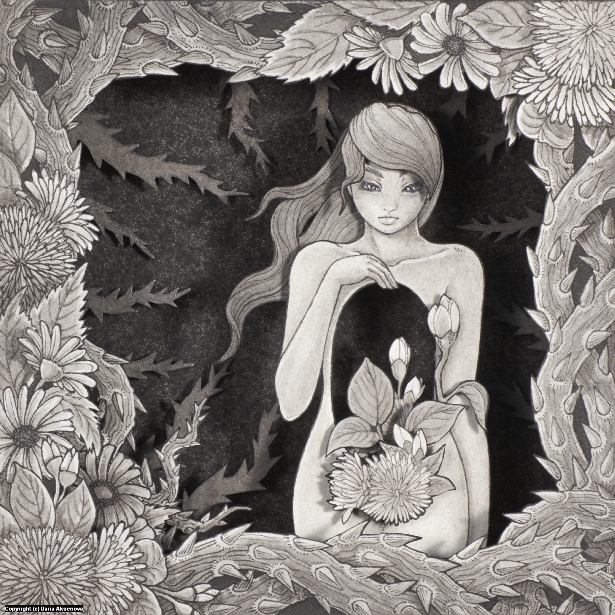 Garden of Flora Artwork by Daria Aksenova