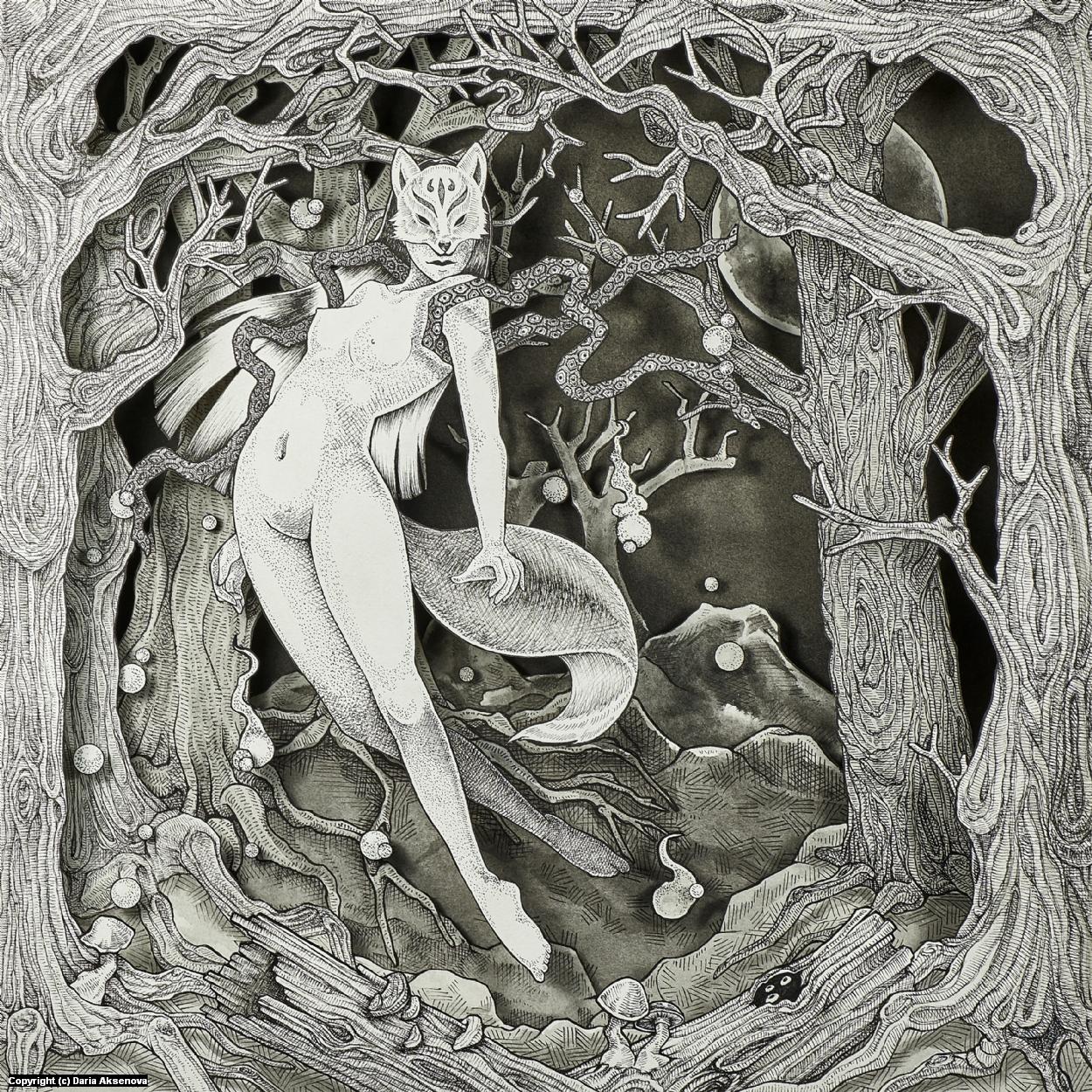 Kitsune-Ken Artwork by Daria Aksenova