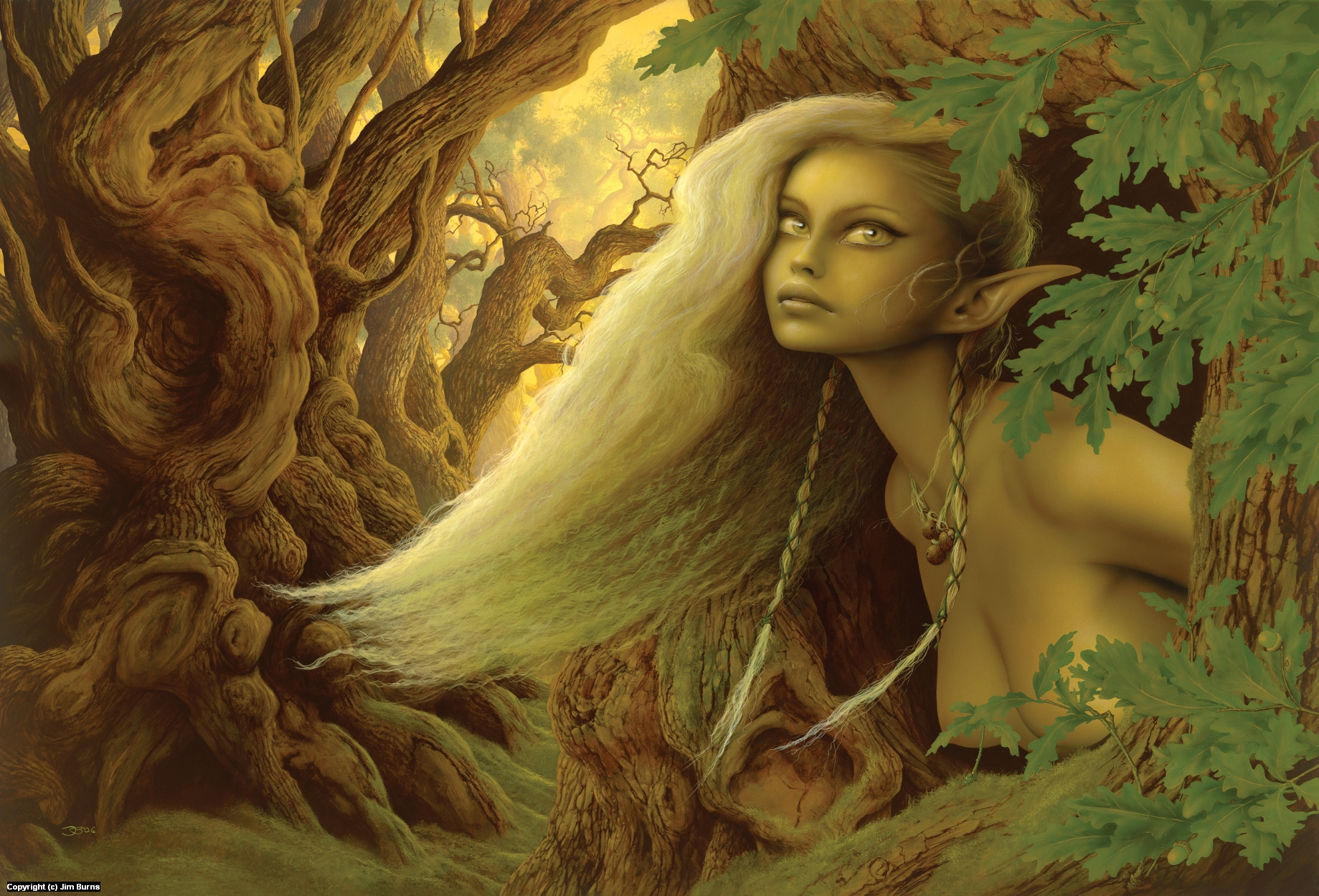 'The Dryad of the Oaks' Artwork by Jim Burns
