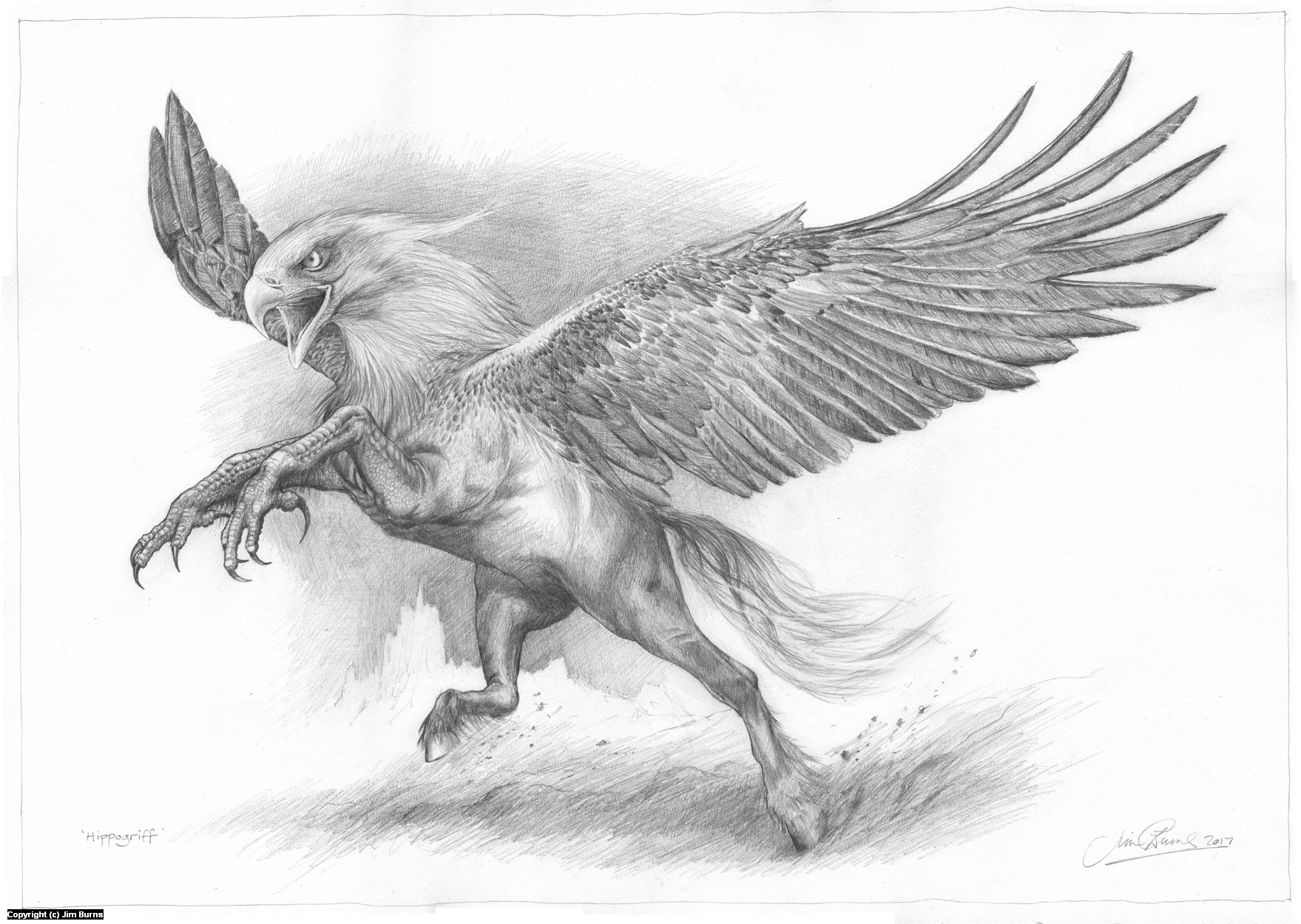 Infected By Art 187 Art Gallery 187 Jim Burns 187 Hippogriff