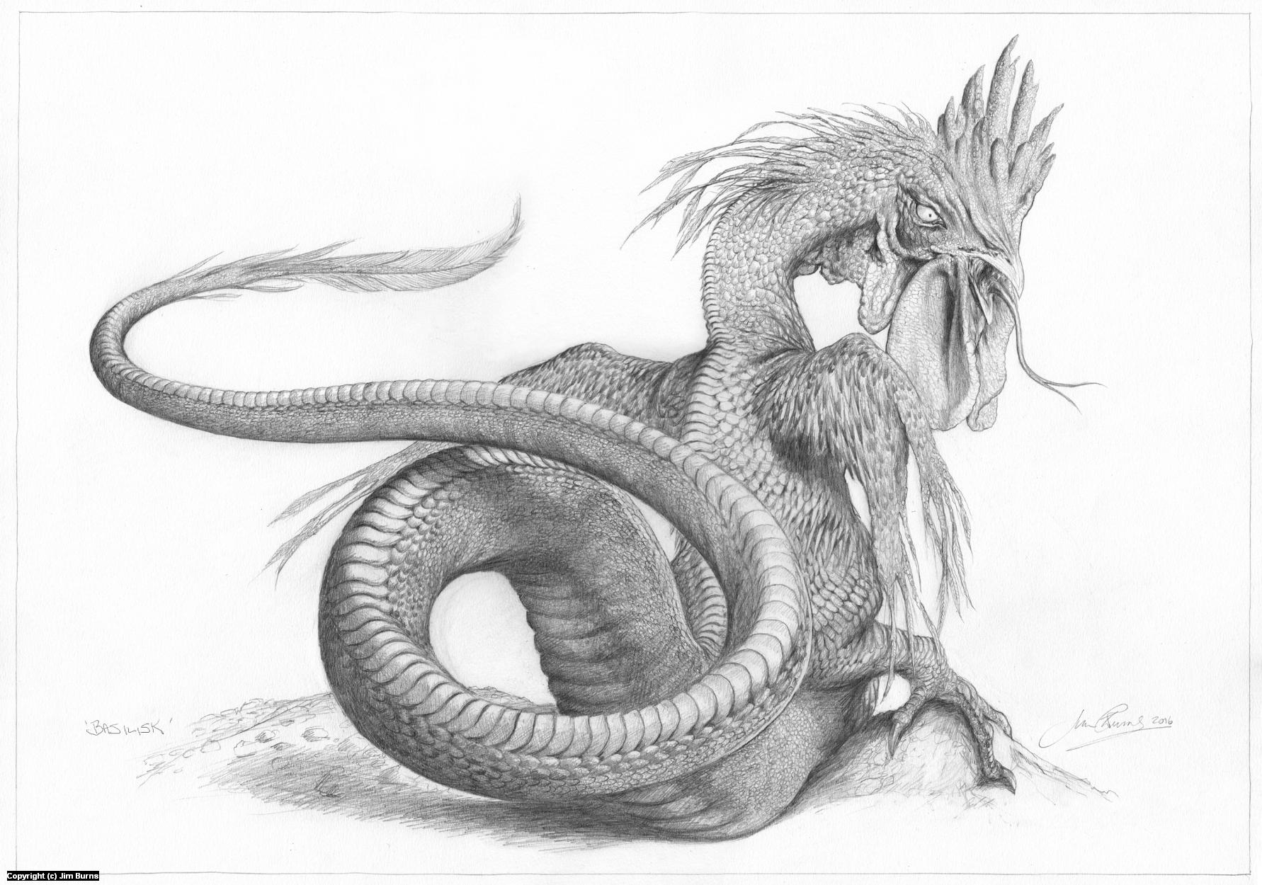'Basilisk' Artwork by Jim Burns