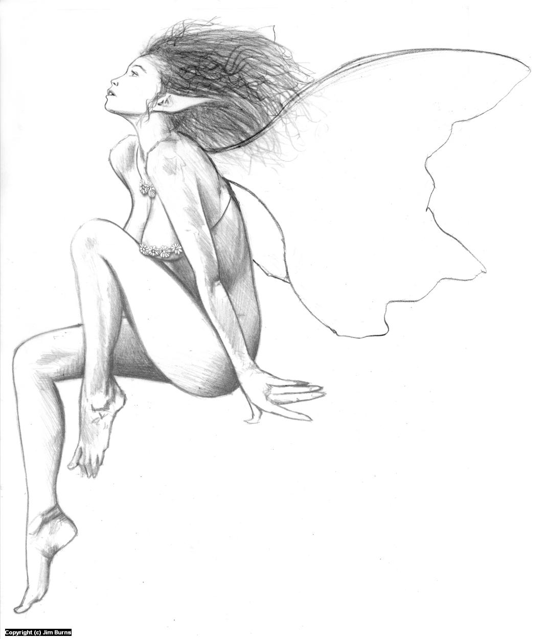 'Sweet Fairy' Artwork by Jim Burns