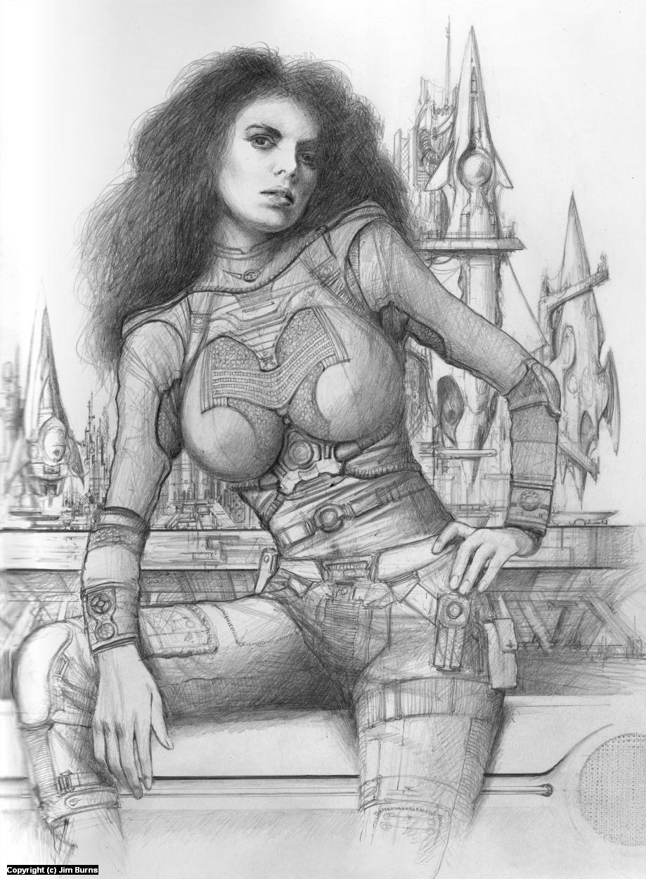 'Drawing for Glynn' Artwork by Jim Burns