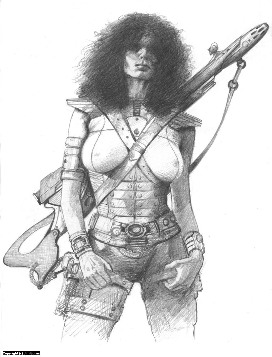 'Gun Toter' Artwork by Jim Burns