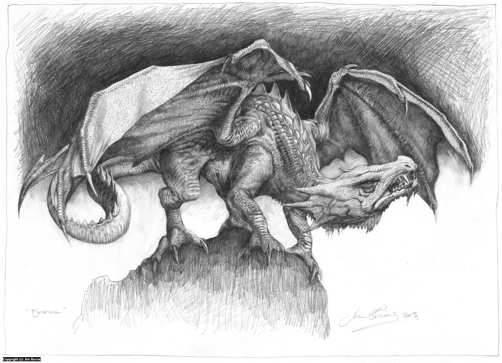 'Fyrdraca' Artwork by Jim Burns