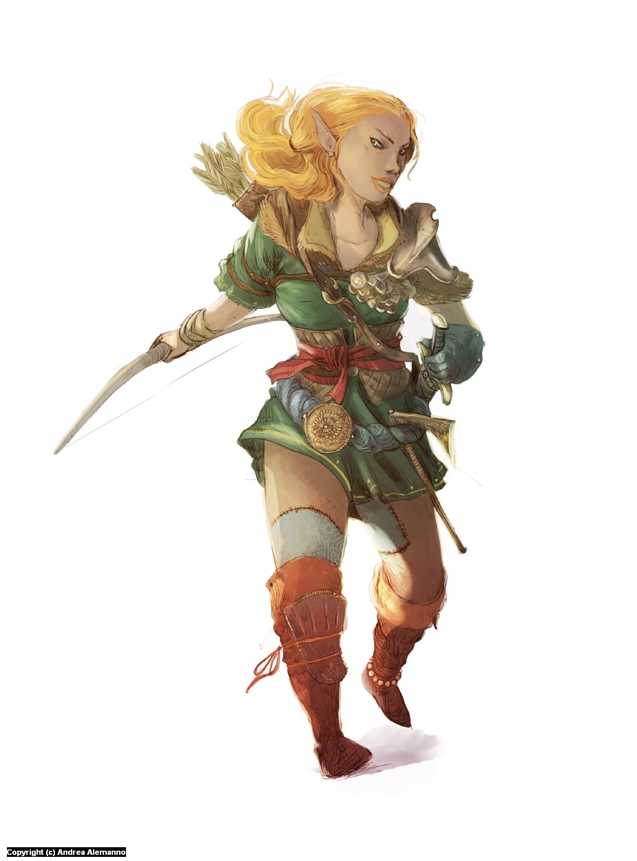 Elf Artwork by Andrea Alemanno