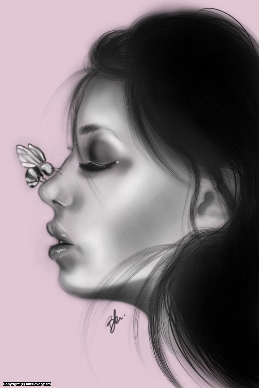 Bee Artwork by bibs lovelypam