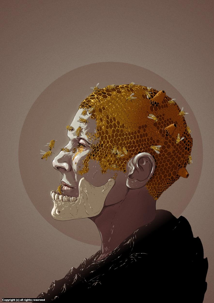 Bee Queen Artwork by Bazsó Lossonczy