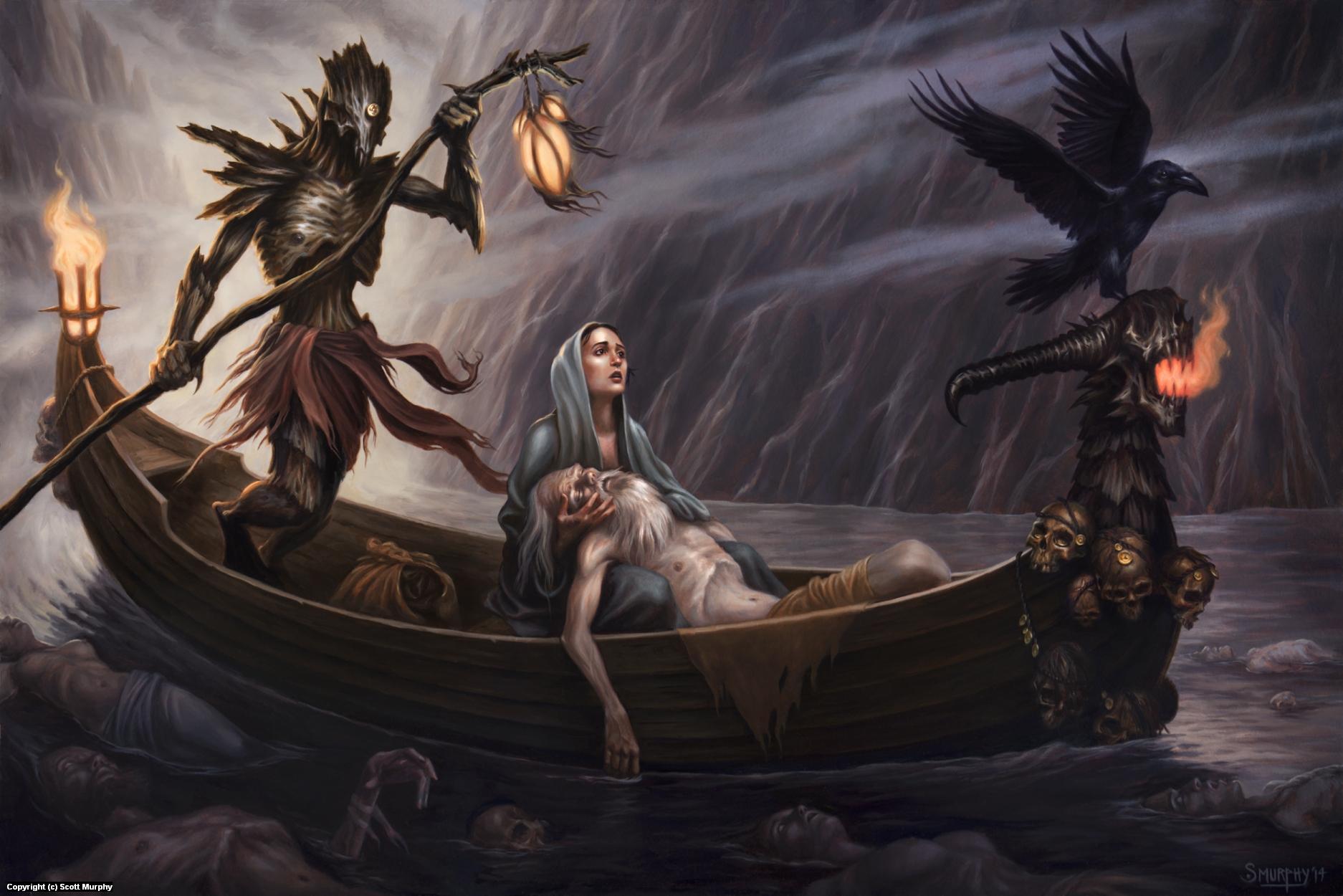 The Ferryman of Hades Artwork by Scott Murphy