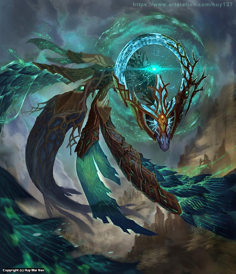 Ancient Dragon Artwork by Huy MaiVan