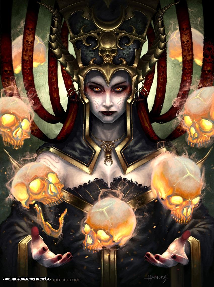 Death Mage Artwork by Alexandre Honoré