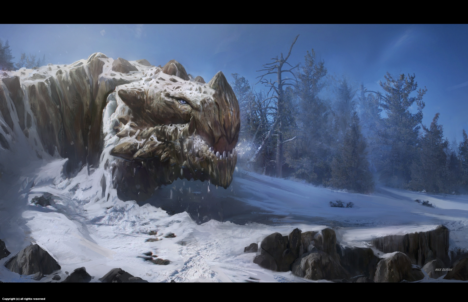 Wake up mountain dragon Artwork by Max Duran