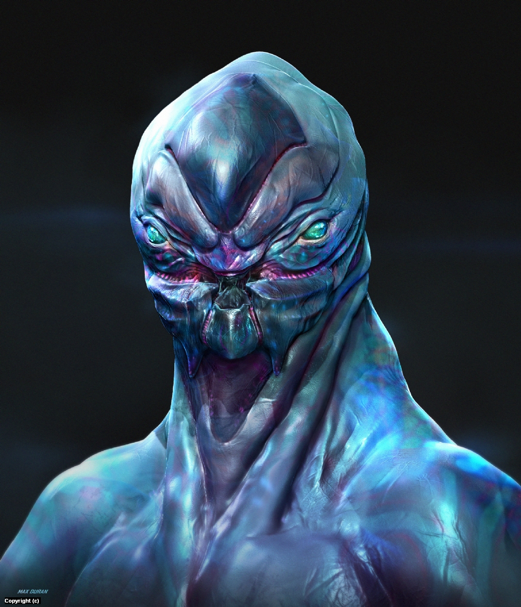 Alien Warrior Artwork by Max Duran
