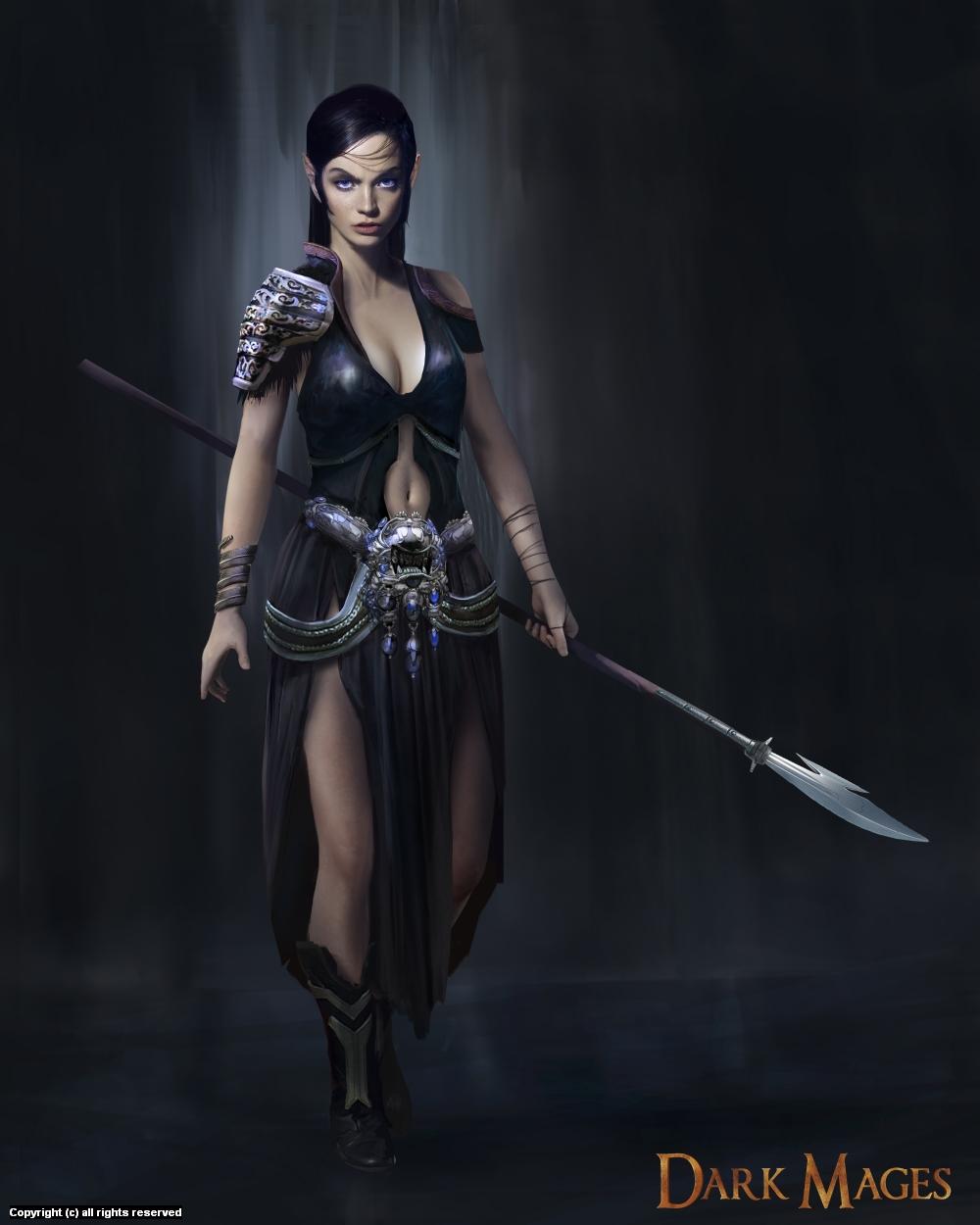 Dark elf Artwork by Max Duran
