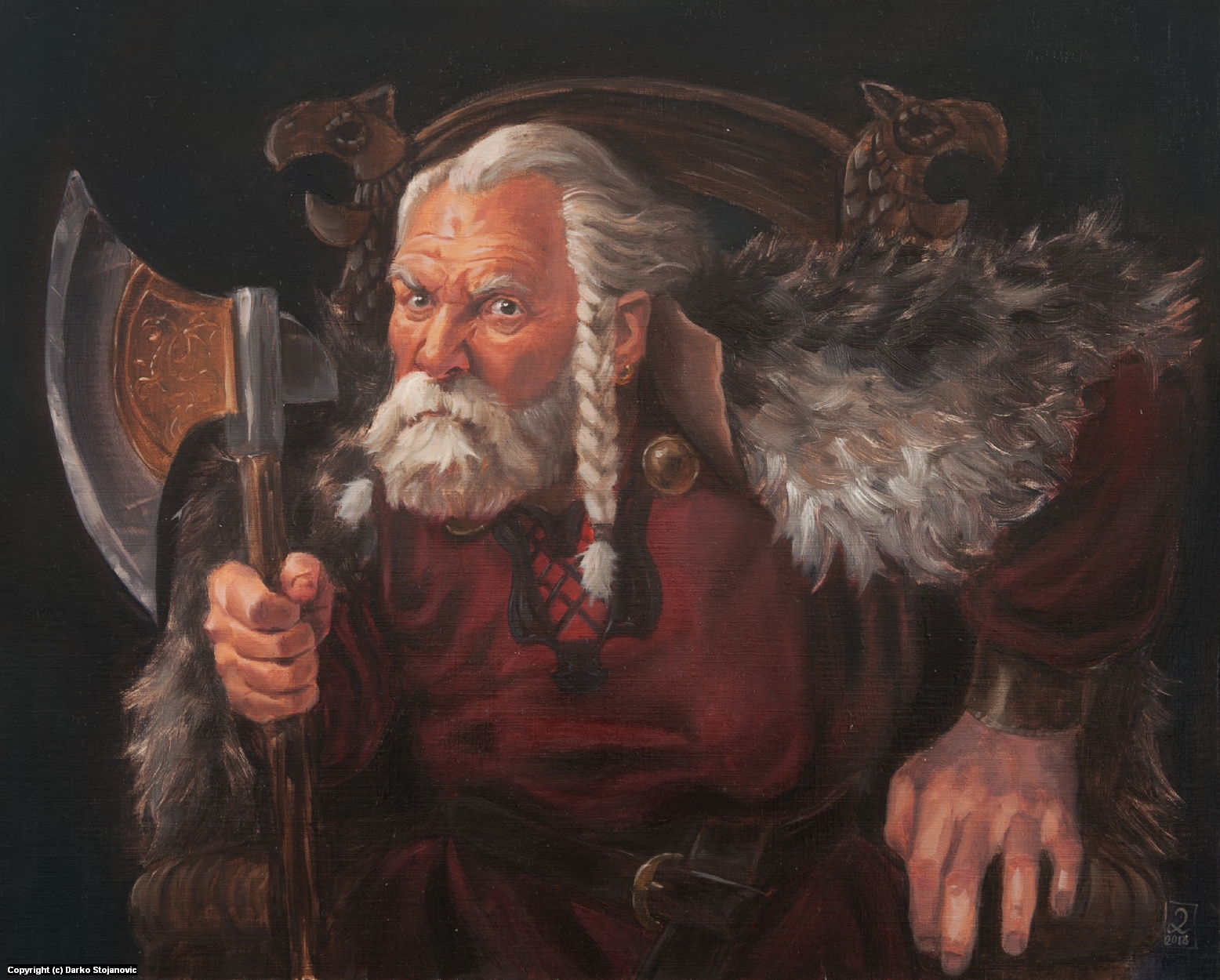 Old warlord Artwork by Darko Stojanovic